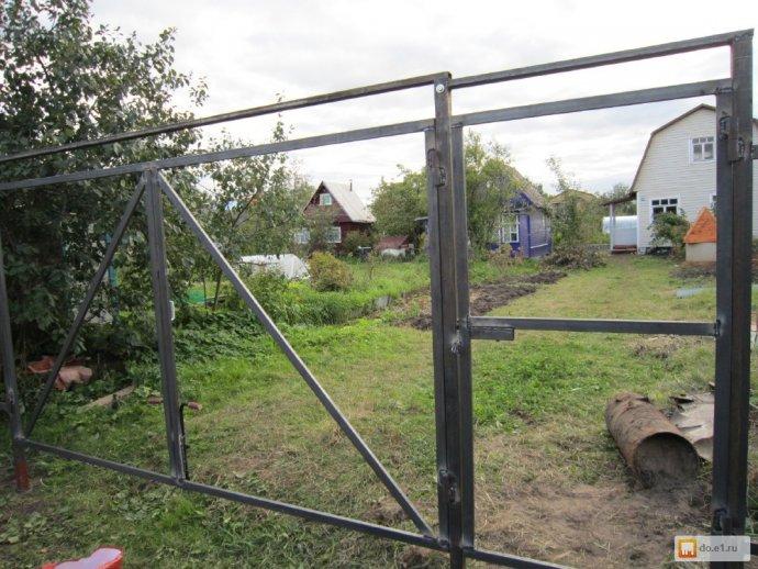 Распашные ворота, сварочные